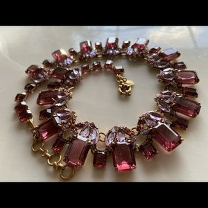🔥 NEW JCREW Wine colored Cluster Drop Necklace